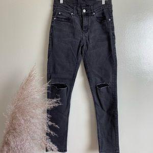 Cheap Monday Black Distress Skinny Jeans
